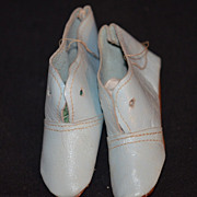 REDUCED Old Doll Shoes Leather Bisque