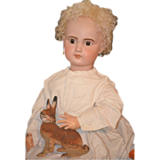 REDUCED Antique Doll Bisque French BeBe 1907 HUGE Gorgeous