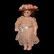 Antique Doll French Bisque SFBJ Dressed