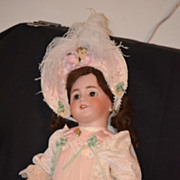 REDUCED Antique Doll French TeTe Jumeau Dep Bisque Crier Dressed