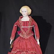 REDUCED Vintage Doll Emma Clear Jenny Lind Doll Dressed
