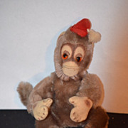 REDUCED Old Doll Toy Monkey Mohair w/ Hat Schuco