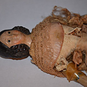 REDUCED Antique Doll Milliner's Model Papier Mache Paper Mache Fancy Hair Style