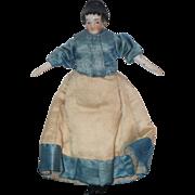 REDUCED Antique Doll Miniature China Head Fancy Hair Style Pierced ears Dollhouse