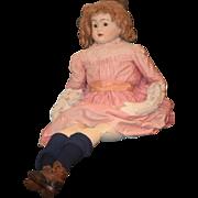 REDUCED Antique Doll Papier Mache HUGE Paper Mache Old Cloth Body