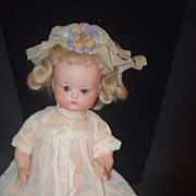 REDUCED Antique Doll Just Me Googly Cabinet Size Bisque Character
