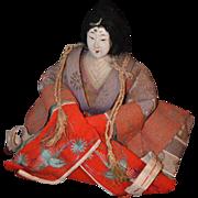 REDUCED Antique Doll Oriental Lady Original Clothing Gofun Head