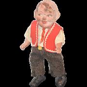 REDUCED Antique Doll Papier Mache Walker Wind Up Character