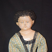 REDUCED Antique Doll Papier Mache Paper  French Pre- Greiner Orig Tag