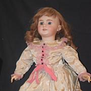 REDUCED Antique Doll French DEP W/ Mechanism Pierced Ears