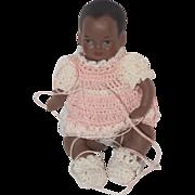 REDUCED Vintage Doll Artist Miniature Dollhouse Black Baby