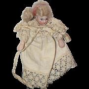 REDUCED Antique Doll Miniature Bisque Swivel Neck