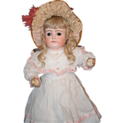 REDUCED Antique Doll Kestner XI Closed Mouth Dressed