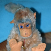 REDUCED Vintage Hermann Teddy Mohair Monkey for Doll W/ Tag Unusual
