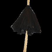 REDUCED Old Doll Parasol Miniature Bone Handle Ornate Umbrella Lace