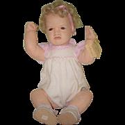 REDUCED Vintage Doll Cloth Carla Thompson Felt Signed On Body Heart Felts