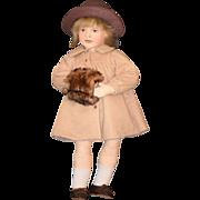 REDUCED Vintage Doll Cloth Felt Elizabeth By Maggie Iacono Signed Beautiful