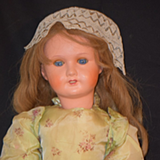 REDUCED Antique Doll French Papier Mache Big Girl Compo Body