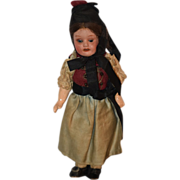 REDUCED Antique Doll Bisque German All Original Clothing Miniature