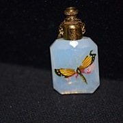 REDUCED Antique Doll Miniature Perfume Chatelaine Opalescent Butterfly Fashion Doll