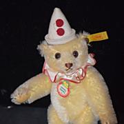 REDUCED Vintage Teddy Bear Doll Toy Teddy Clown Steiff W/ Button