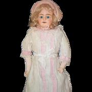REDUCED Antique Doll Papier Mache Paper Doll Dressed
