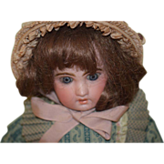 REDUCED Antique Doll French Bisque Cabinet Size SFBJ TeTe Jumeau