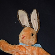 REDUCED Old Steiff Rabbit Mohair Puppet W/ Button