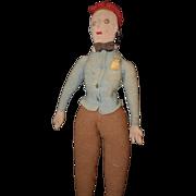 REDUCED Old Doll Cloth Crochet Unusual Rag Doll Man Stockinette
