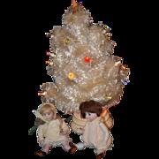 REDUCED Vintage Doll Christmas Tree W/ Lights Miniature Dollhouse