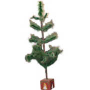 REDUCED Vintage Doll Feather Tree Christmas Miniature