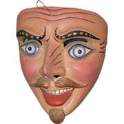 REDUCED Old Doll Papier Mache Mask Wonderful Detail
