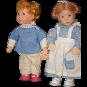 SALE Kathe Kruse Doll Set W/ Pull Toy Original Tags