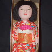 REDUCED Old Oriental Doll in Original Box