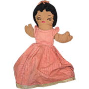 REDUCED Old Doll Cloth Topsy Turvy Black & White Doll