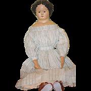 REDUCED Antique Doll Papier Mache M&S Superior W/ Original Tag