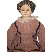 REDUCED Antique Doll Papier Mache Big Greiner?