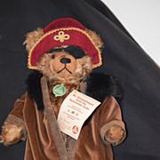 REDUCED Vintage Hermann Teddy Bear Pirate Mr. Drosselmeyer W/ Tags