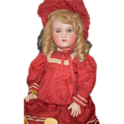 REDUCED Antique Doll Bisque S.F.B.J. Paris French HUGE Dressed