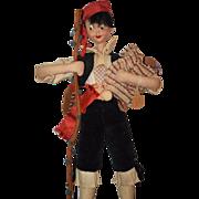 REDUCED Vintage Doll Klumpe Cloth Wonderful W/ Instrument