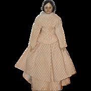 REDUCED Antique Doll Covered Wagon Milliner's Model Wood & Papier Mache Miniature Dollhous