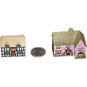 REDUCED Old Doll Miniature Dollhouse Cottage Wade England Porcelain