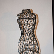 REDUCED Old Doll Dress Form Mannequin For Fashion Doll Miniature Ornate Display Clothing Wire