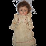 REDUCED Antique Doll Papier Mache Glass Eyes Paper Mache Sweet Girl