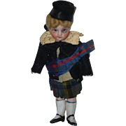REDUCED Antique Doll Mignonette Bisque Swivel Neck All Bisque Miniature Dollhouse Original ...