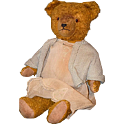 Antique Teddy Bear Mohair Jointed Friend For Dolls Adorable