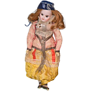 REDUCED Antique Doll French Bisque BeBe FG Gaultier In original outfit French Fashion