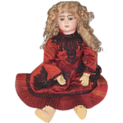 REDUCED Antique Doll French Bisque BeBe Jumeau GORGEOUS Chunky Body Wood & Composition W/ Old
