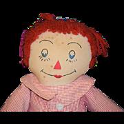 REDUCED Old Doll Raggedy Andy Cloth Rag Doll WONDERFUL