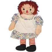 Old Doll Raggedy Ann Johnny Gruelle's Own Georgene Novelties Cloth Doll Rag Doll Tagged ...
